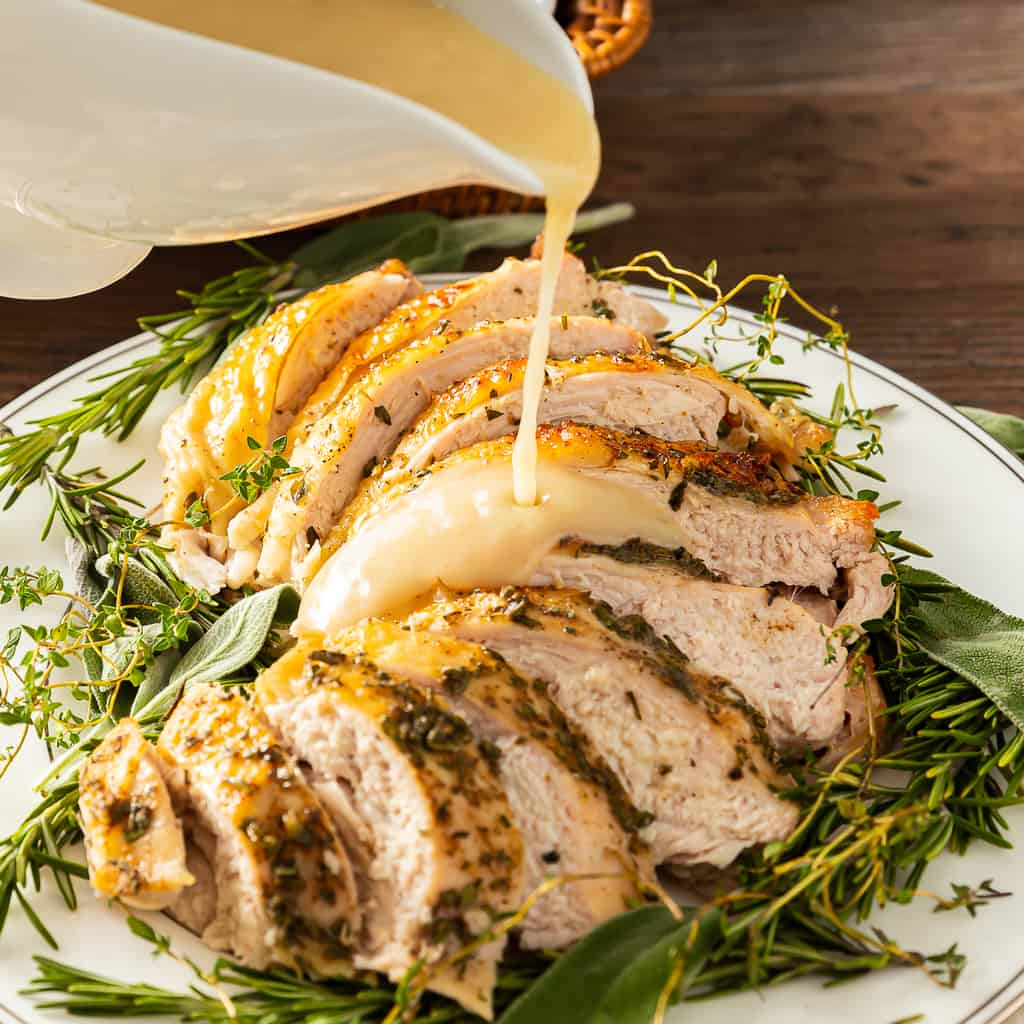 How Long to Cook Turkey Breast: Roasted with Gravy