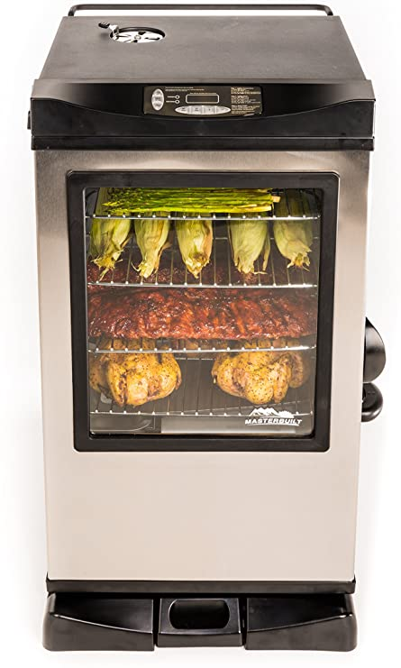 Masterbuilt 20077515 Front Controller Electric Smoker with Window and RF Controller Review